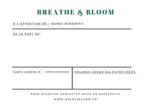 Bloom card back